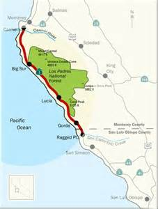 big sur map highway 1 travel maps california dude