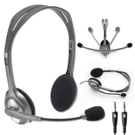 Headset Logitech H 110 Stereo Garansi 1 Tahun logitech h110 stereo headset black grey