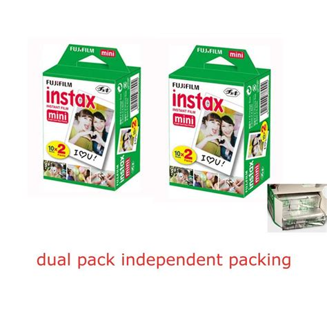 Fujifilm Instax Paper 2 Packs 40 sheet fuji fujifilm instax mini shoot photo paper for fujifilm instax mini 7s 8 25 50s