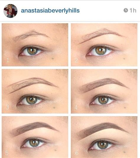 tutorial natural eyebrows perfect brows using anastasia beverly hills dip brow
