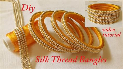 Handmade Bangles - how to make silk thread designer bangles at home diy