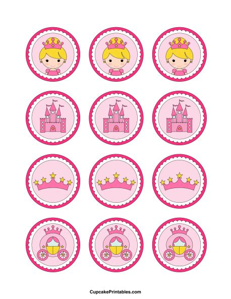 free printable crown cupcake toppers printable princess cupcake toppers