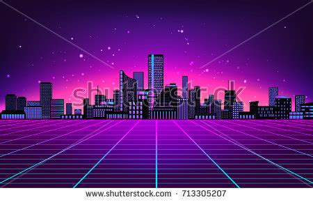 design art arcade ny retro futuristic abstract background made 80s stock vector
