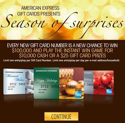 American Express Sweepstakes - american express 2011 season of surprises iwg