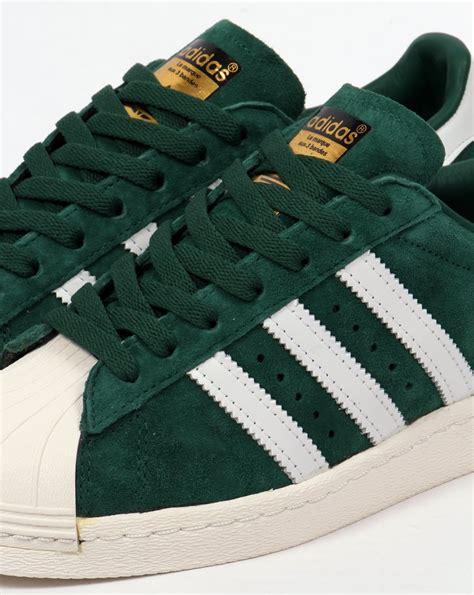 Adidas Superstar Suede Greenwhite Original adidas superstar 80s deluxe trainers green white
