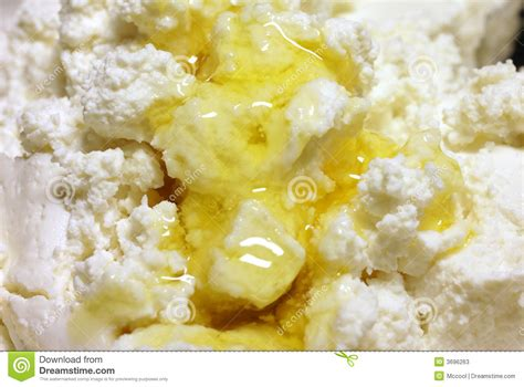 cottage cheese with honey stock photos image 3696263