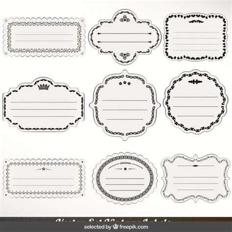 the images collection of vector round label victorian round vintage victorian labels collection vector free download