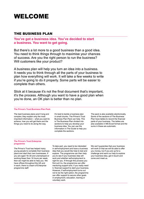 simplified business plan template free simple business plan template templates at