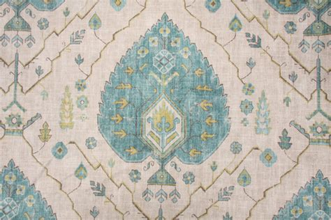 Aubusson Upholstery Fabric by Richloom Platinum Collection Aubusson Printed Linen