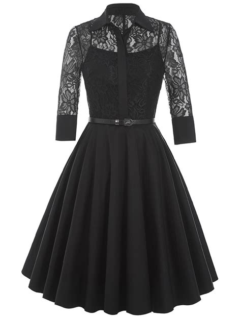 Lace Dress Tosca Blouse doris lace shirt swing dress 1950sglam