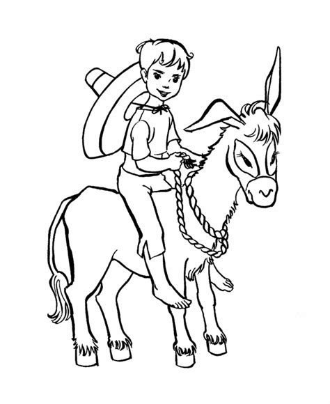 coloring page for donkey donkey coloring page coloring home