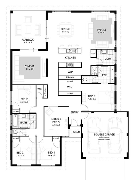 floor plans for a 4 bedroom house 4 bedroom house plans home designs celebration homes
