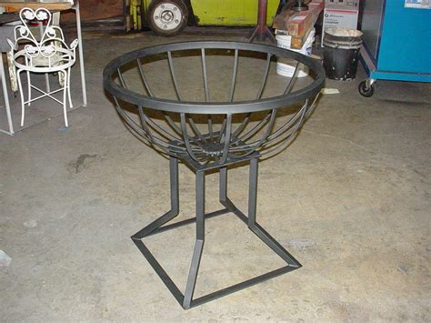 a wrought iron custom metal furniture