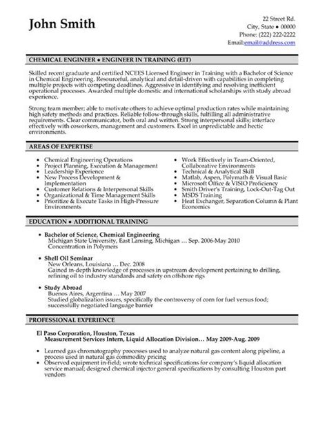 Best Resume Sles For Experienced Engineers Click Here To This Chemical Engineer Resume Template Http Www Resumetemplates101