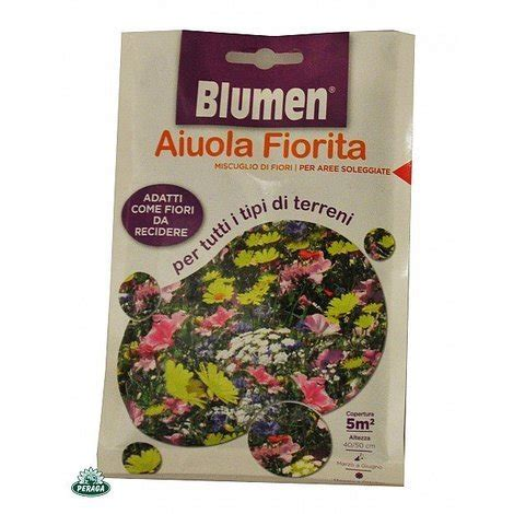 fiori di tutti i tipi bustina con semi in miscuglio di fiori per tutti i tipi di