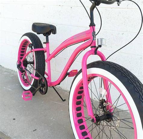 light pink beach cruiser womens fat tire bicycle ladies pink fat tire beach