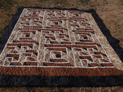 Labrynth Quilt by Darlaville Labyrinth Walk Quilt Completely Finished