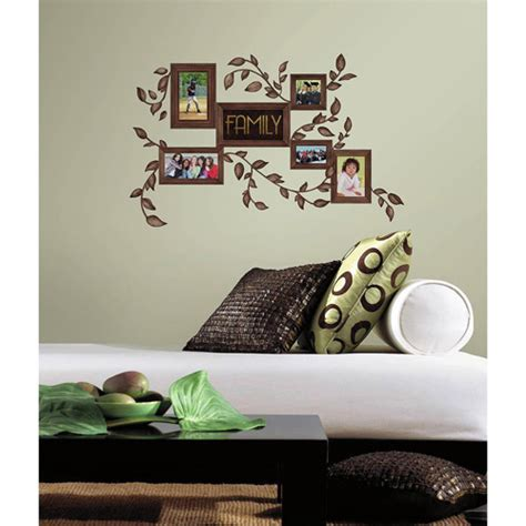 peel and stick wall decor family frames peel and stick wall decals walmart com