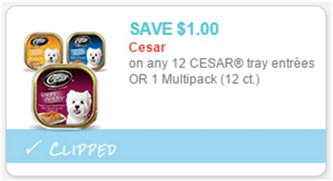 printable cesar dog food coupons dollar tree cesar dog food only 0 41 couponing for