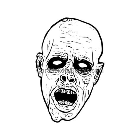 zombie head coloring page free coloring pages