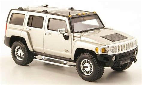 Diecast Hummer hummer h3 gray 2006 luxury collectibles diecast model car