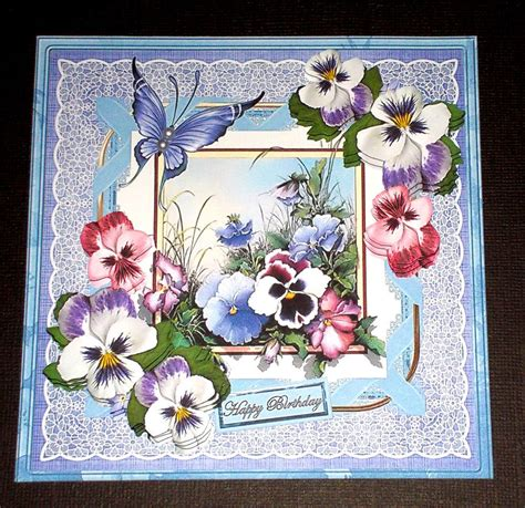 handmade greeting card   occasion card  pansies ebay