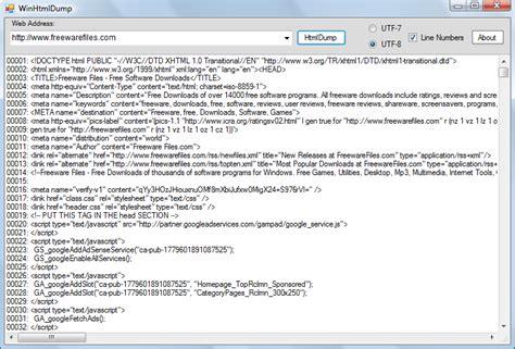 Html Quellcode Layout | winhtmldump html quellcode betrachter dr windows