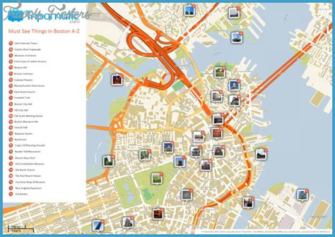 maryland boston map boston map tourist attractions travelsfinders