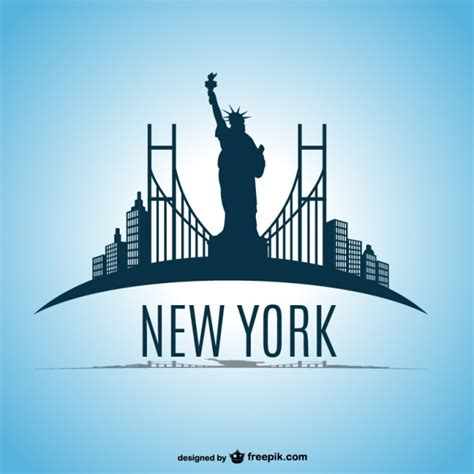 cartoon tattoo new york new york skyline vector design vector free download