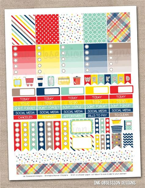 printable planner stickers pdf craft collection printable planner stickers pdf instant