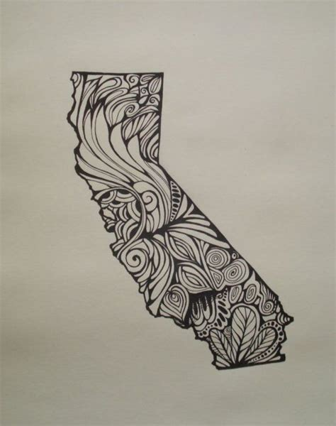 minnesota outline tattoo california outline bigger line drawing on paper