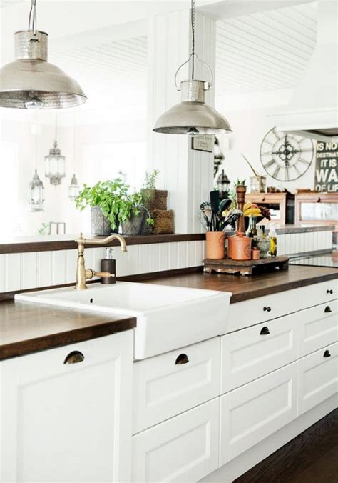 decorating ideas for kitchen cabinets 35 cozy and chic farmhouse kitchen d 233 cor ideas digsdigs