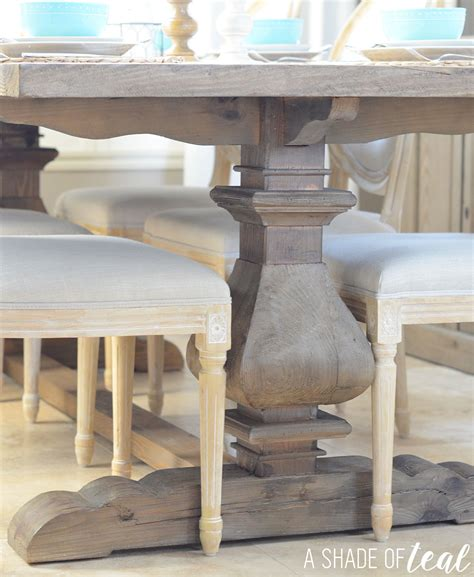 modern rustic dining table update with home