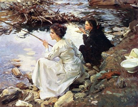 Kitchen Cabinet Doors Painting Ideas the athenaeum two girls fishing john singer sargent