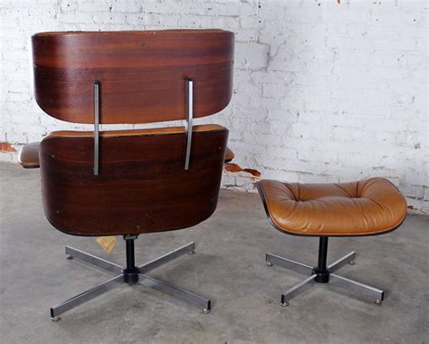 eames style chair and ottoman mid century modern plycraft eames style lounge chair and