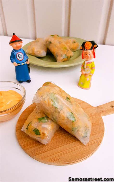 Rice Paper Rolls In Advance - chickpea rice paper rolls samosa
