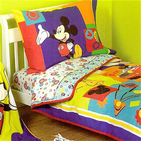 mickey mouse bedding set disney 4pc beep toddler bed