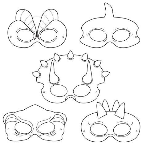 dinosaur mask template free dinosaurs printable coloring masks dinosaur masks