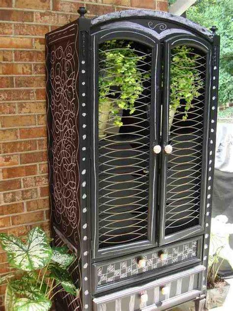 repurpose armoire repurposed armoire home furniture design