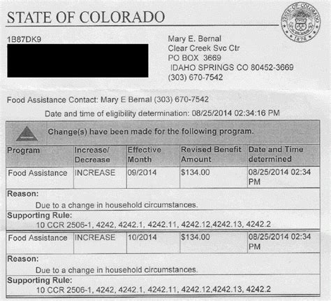 Award Letter From Welfare Colorado Co Compliancewiki