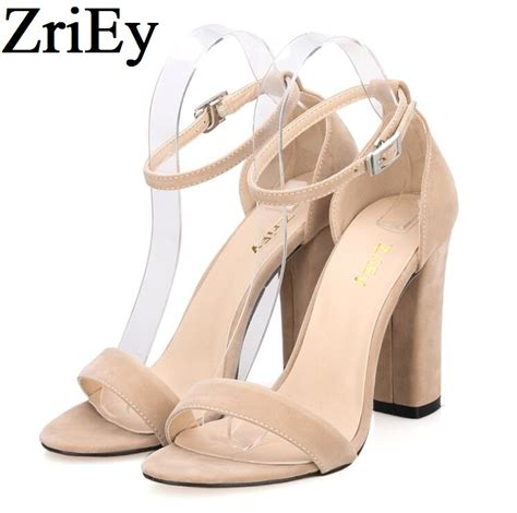 big heels sandals zriey ankle pumps summer shoes large size 35