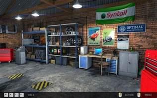 navigation in the garage basics of gameplay car