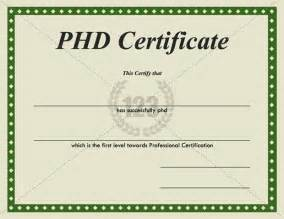 Phd Certificate Template by Pin Phd Degree Certificate On