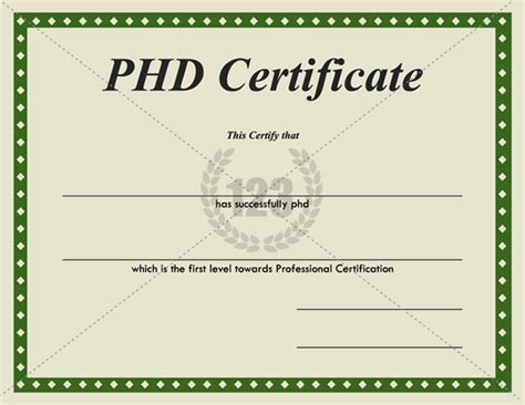 phd certificate template most valuable phd certificates for