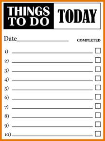7 blank to do list itinerary template sle