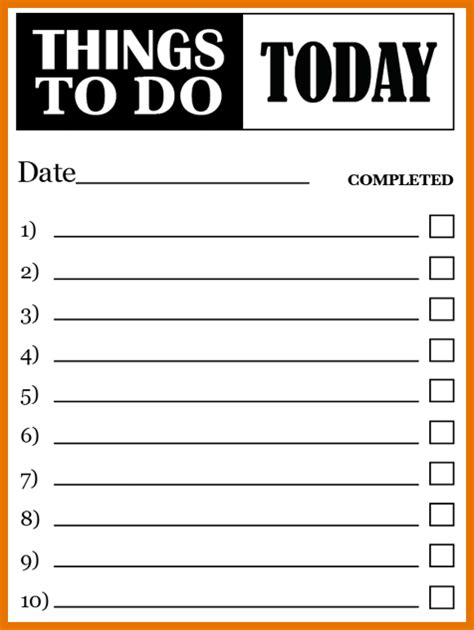 blank to do list template 7 blank to do list itinerary template sle
