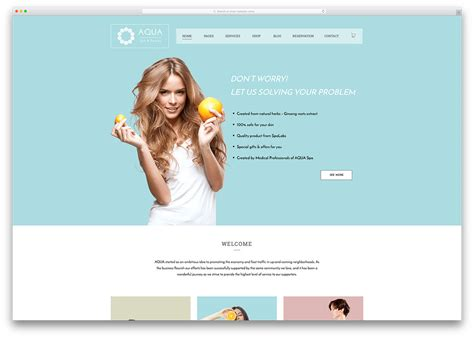 home care website design inspiration 30 beautiful spa beauty salon wordpress themes 2018