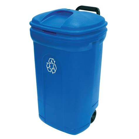 Ecopod E1 Home Recycling Center 2 by United Solutions 34 Gal Wheeled Outdoor Trash Can