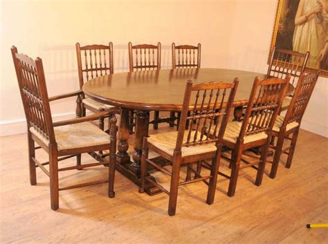 Oak Kitchen Table Sets Oak Kitchen Refectory Table Dining Set Spindleback Chairs