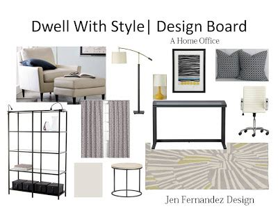 home office design board dwell with style a home office design board